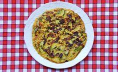 frittatina senza uova con fiori di zucca_