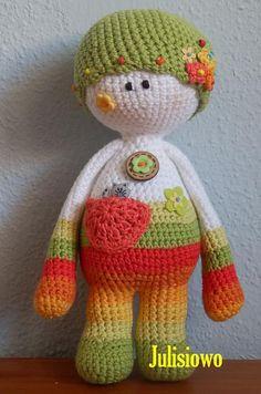 Crochet pattern . Crochet doll Nena  PDF pattern. by Julisiowo, €4.30
