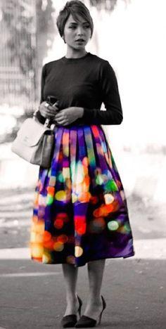 Starry Night Midi Skirt