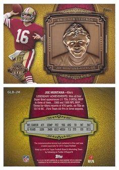 Joe Montana 2013 Topps GLB-JM Gridiron Legends Bust Gold (#04/25)
