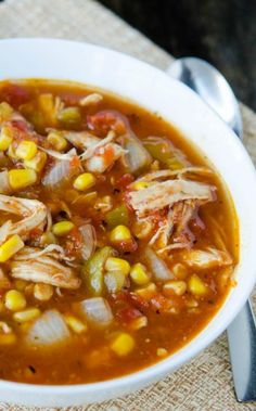 Use your Instant Pot pressure cooker to make this Mexican soup from fresh or frozen ingredients in minutes for a fast family meal. via @onceamonthmeals
