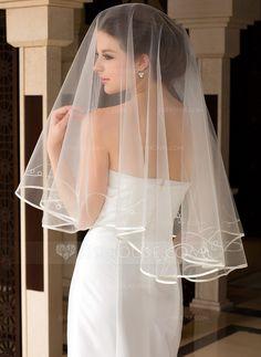 Wedding Veils - $10.39 - One-tier Blusher Bridal Veils With Ribbon Edge (006036628) http://jjshouse.com/One-Tier-Blusher-Bridal-Veils-With-Ribbon-Edge-006036628-g36628