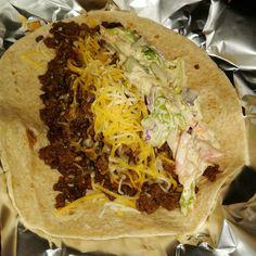 Soft shell taco, on carb balance    mission wrap*