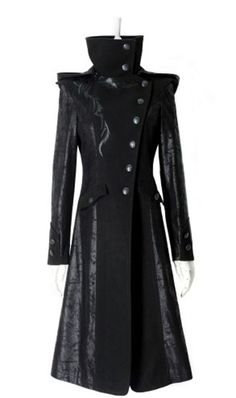 Rock Women Punk Stream Long Jacket Coat Hoodie daft Visual Kei Gothic-in Basic Jackets from Women's Clothing & Accessories on…