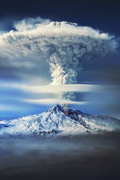 Mount Ararat eruption, Turkey | by Sako Tchilingirian | via mstrkrftz