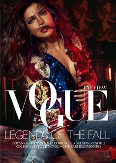 Actress Priyanka Chopra starred in Vogue India September 2017 issue. the Indian beauty getting her closeup wears a Nina Ricci bra. Actress Priyanka Chopra, Priyanka Chopra Hot, Bollywood Actress, Bollywood Celebrities, Vogue Magazine Covers, Vogue Covers, Magazine Ads, Vogue Photoshoot, Magazin Covers