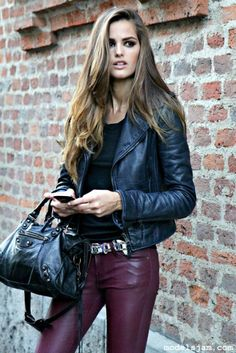 leather and coated pants