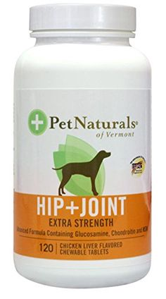 Pet Naturals Hip & Joint Tablets, Extra Strength, 120-Count Bottle. Pet Natuals Hip & Joint Extra Strength utilizes specifically to meet the needs of dogs with major requirements for joint support. It supports the proper structure and function of synovial joints, helps maintain flexibility and everyday comfort in dogs showing joint stress