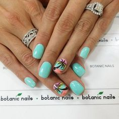 Palm tree nails, Hawaii nails - Tap on the link to see the newly released collections for amazing beach bikinis! Summer Vacation Nails, Summer Beach Nails, Beach Holiday Nails, Hawaiian Nails, Cruise Nails, Pineapple Nails, Botanic Nails, Palm Tree Nails, Manicure And Pedicure