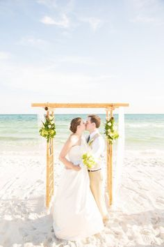 Lovely beach wedding arch idea!