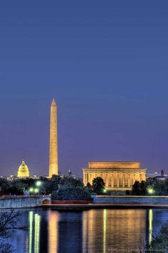 Lincoln Memorial, Washington Monument, Capitol Building, DC