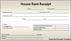 House Rent Receipt Template Our Mission  Business  Pinterest