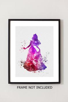 Aurora Sleeping Beauty ART PRINT 10 x 8 illustration by SubjectArt