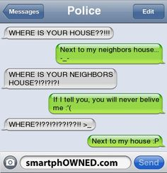 Tellin people where you live...the smart funny way to do it (: