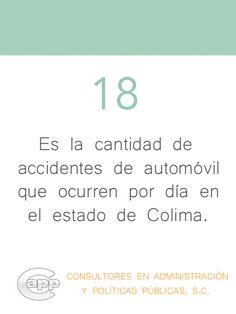 Incidencia diaria de accidentes vehiculares en el estado de Colima.