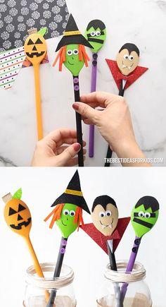 Halloween Activities For Kids, Halloween Crafts For Kids, Fathers Day Crafts, Fun Crafts For Kids, Easy Crafts For Kids, Diy Halloween Decorations, Fall Crafts, Halloween Fun, Holiday Crafts