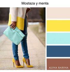 Color mostaza y menta