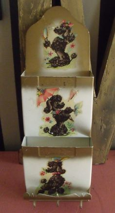 Vintage 1950's Letter Wall Pocket Poodle door recollectionclothing