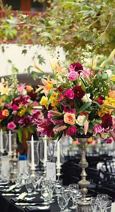 lovely fresh flower centerpieces....