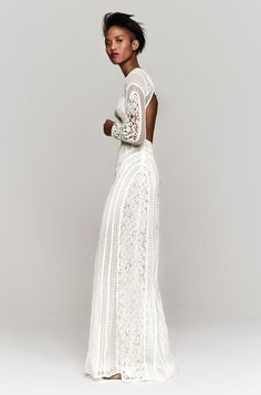 I love the trend of long sleeve wedding gowns! From delicate beading and romantic lace to boho bell sleeves and touches of sparkle, today we're featuring 20 Long Sleeve Wedding Gowns from Reem Acra, Bo & Luca, Grace Loves Lace and more! Wedding Gowns With Sleeves, Long Sleeve Wedding, Wedding Dresses, Lace Dress, Dress Up, White Dress, White Lace, The Bride, Romantic Lace
