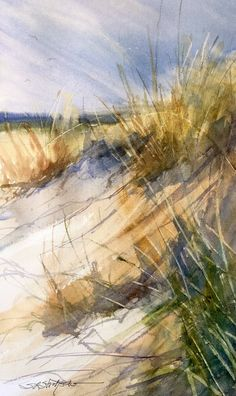 Sandra Lynn Strohschein    The First Green in the Dunes.....18 x 12                                                                                                                                                                                 More