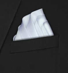 Primrose - Five Fold White Pocket Square | Hankyz.com