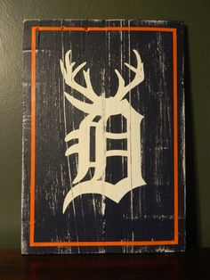 Detroit Tigers Wall Hanging Michigan Hunter Gift by theurbanupcyclers