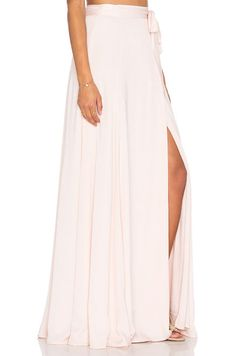 KENDALL + KYLIE Maxi Wrap Skirt in Soft Pink  c2652edb5c