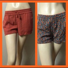 ❗️1DAY SALE ❗️Really Cute Reversible Shorts Amazing shorts can be worn both sides, one side orange the other side with fish prints. Really soft material with 2 pockets. Islandia Shorts