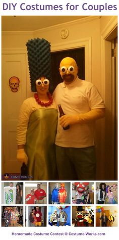 Homemade Costumes for Couples - a lot of DIY costume ideas!
