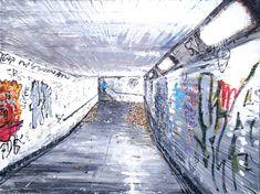 Saatchi Art: Subway twenty one Painting by Simon Hopkinson