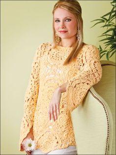 Crochet Clothes - Crochet Sweater & Top Patterns - Sunburst Pullover