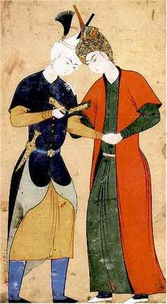 Two Safavid Princes  Attribution: Aqa Mirak Tabriz, Circa 1530