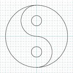 Voici quelque temps que je cherche à faire ce symbole en dentelle. Vous me connaissez, il me fallait savoir comment dessiner ce symbole. Une recherche avec Google, m'appris que des mathématiciens avaient déjà étudié la courbe qui sépare le yin et le yang... Dot Art Painting, Mandala Painting, Mandala Art, Stone Painting, Stone Crafts, Rock Crafts, Stained Glass Patterns, Mosaic Patterns, Mosaic Crafts