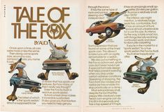 1974 Audi Fox - Tale Of The Fox - vintage 2 page color ad