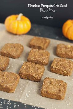 Flourless Pumpkin Chia Seed Blondies