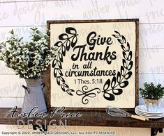 Give thanks in all circumstances 1 Thessalonians 5:18 SVG PNG DXF