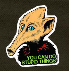 Mystery Science Theater 3000 Trumpy Sticker x1 by DarkAndSticky