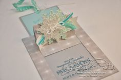 Stampin' Dolce: Stampin' Up! Christmas pop-up slider card using Festive Flurry and Winter Frost