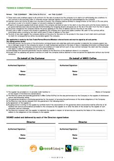 Credit Application Form For Miko Africa Front Page Kickasscoffee