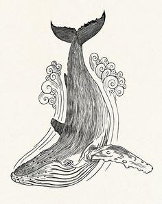 baleia desenho Mais