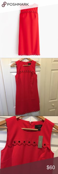 Selling this J. Crew scalloped dress with grommets on Poshmark! My username is: kathrynjames. #shopmycloset #poshmark #fashion #shopping #style #forsale #J. Crew #Dresses & Skirts
