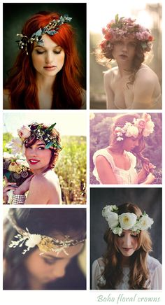 These are not as subtle as I would like, but I like the idea of a floral wreath