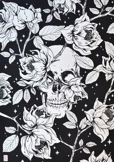 ✝☮✿★ SKULL ✝☯★☮ Pattern Wallpaper, Sugar Skull Wallpaper, Wallpaper Backgrounds, Iphone Wallpaper, Amazing Art, Tattoo Designs, Skull Island, Skeletons, Memento Mori