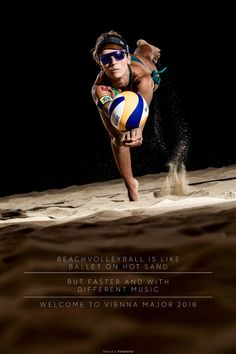 """Barbara Fernanda 2018-07-31 - After two days in a 35 deg. Celsius """"cold"""" indoor Beachvolleyball Arena. I am done!! It was great to work with the pros!!! The shooting was a pleasure!! Thanks to all the teams!! On the picture you see Barbara BRA dancing with the ball... now the Beach Volleyball Major Series in Vienna can come! Beach Volleyball, Vienna, Dancing, Indoor, Events, Cold, Sport, People, Pictures"""