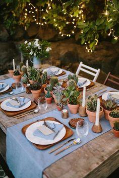 Cactus Wedding Decor is the New Pineapple Trend - Paper & Honey® Plant Wedding Favors, Unique Wedding Centerpieces, Wedding Plants, Cactus Wedding, Unique Weddings, Floral Wedding, Wedding Decorations, Trendy Wedding, Summer Wedding