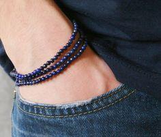 Een persoonlijke favoriet uit mijn Etsy shop https://www.etsy.com/nl/listing/497309174/triple-lapis-lazuli-bracelet-mens-lapis