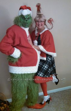 family christmas costumes christmas costumes cindy lou Heartwarming Grinch and Cindy Lou Who Costumes. Whoville Costumes, Sibling Halloween Costumes, Christmas Costumes, Creative Halloween Costumes, Sibling Costume, Grinch Halloween, Grinch Stole Christmas, Ugly Christmas Sweater, Whoville Christmas