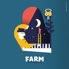 Illustration for Farm Festival Festival 2017, My Works, Bart Simpson, Graphic Design, Music, Movie Posters, Fictional Characters, Musica, Musik