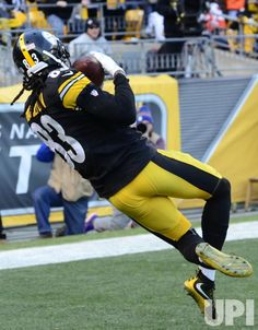 Pittsburgh Steelers wide receiver Cobi Hamilton (83) pulls in a 26 yard touchdown pass to win the game 27-24 in sudden death overtime…